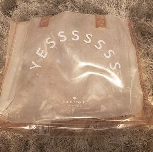 "Kate Spade ""Yes"" clear tote NWOT"